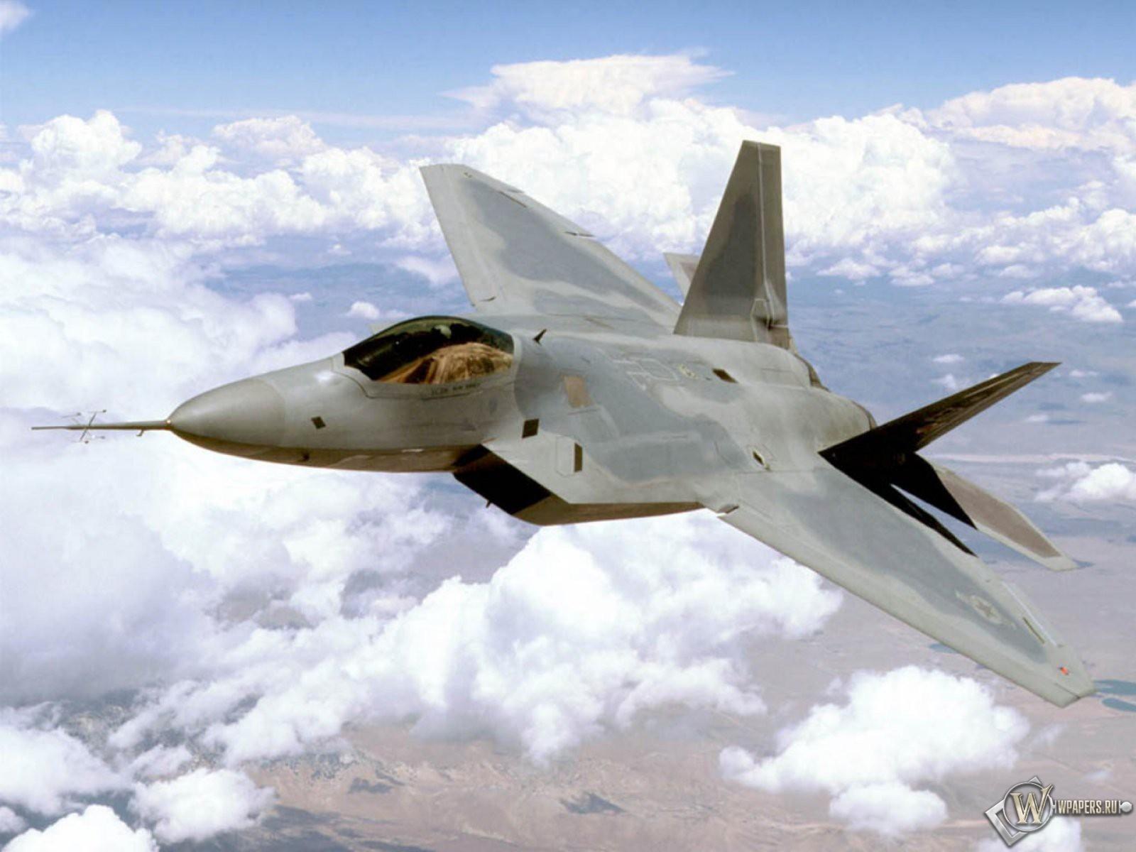 Истребитель F-22 1600x1200