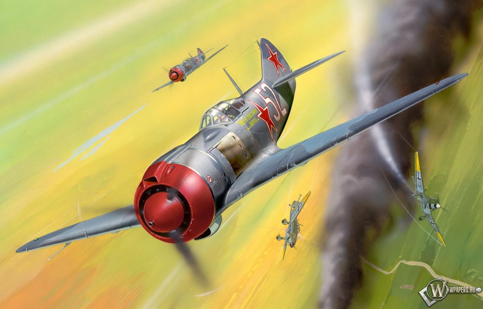 Скачать обои Истребитель Лавочкин Ла-5 (Истребитель, La-5) для ...