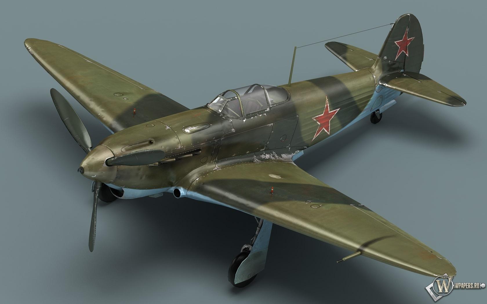 Советский истребитель Як-1 1680x1050