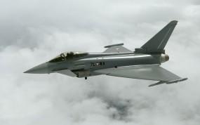 Обои Eurofighter 2000: Облака, Полёт, Истребитель, Истребители