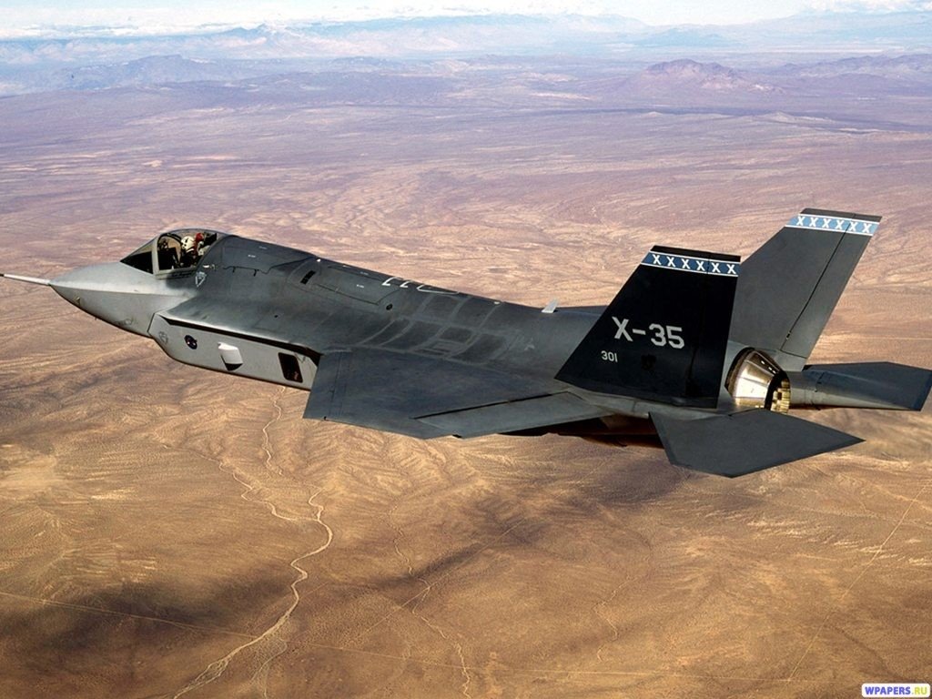 Истребитель X-35 1024x768