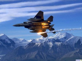 Обои ИК-ловушка из F-15: Ракета, F-15, ИК-ловушки, Истребители
