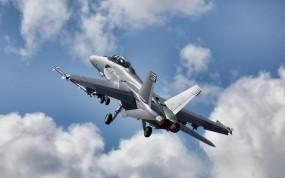 Обои Boeing F A-18E F Super Hornet: Истребитель, Небо, Истребители
