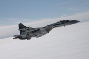 Обои Су-35: Облака, Полёт, Истребитель, Небо, Самолеты