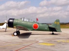 Обои Mitsubishi A6M3 Reisen (Zero): Истребитель, Авиация, Mitsubishi A6M3, Истребители