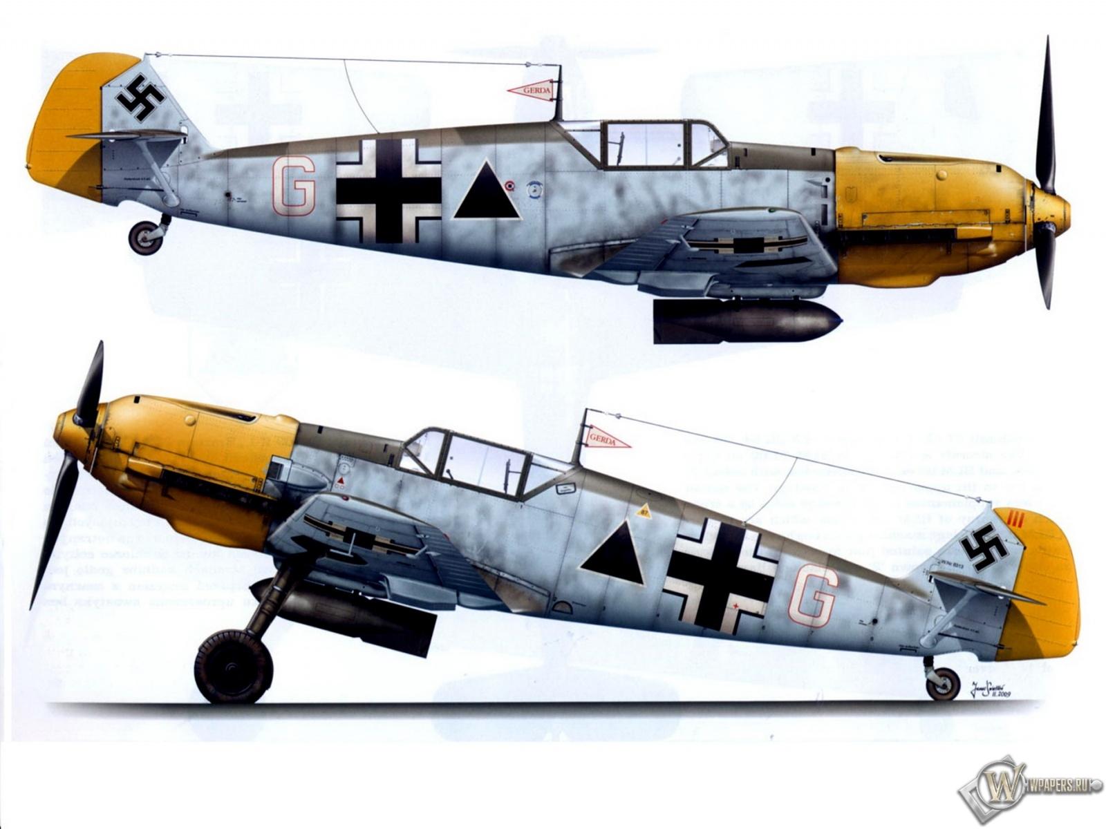 Bf-109E1-II.JG27 1600x1200