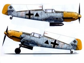Обои Bf-109E1-II.JG27: Истребитель, Истребители