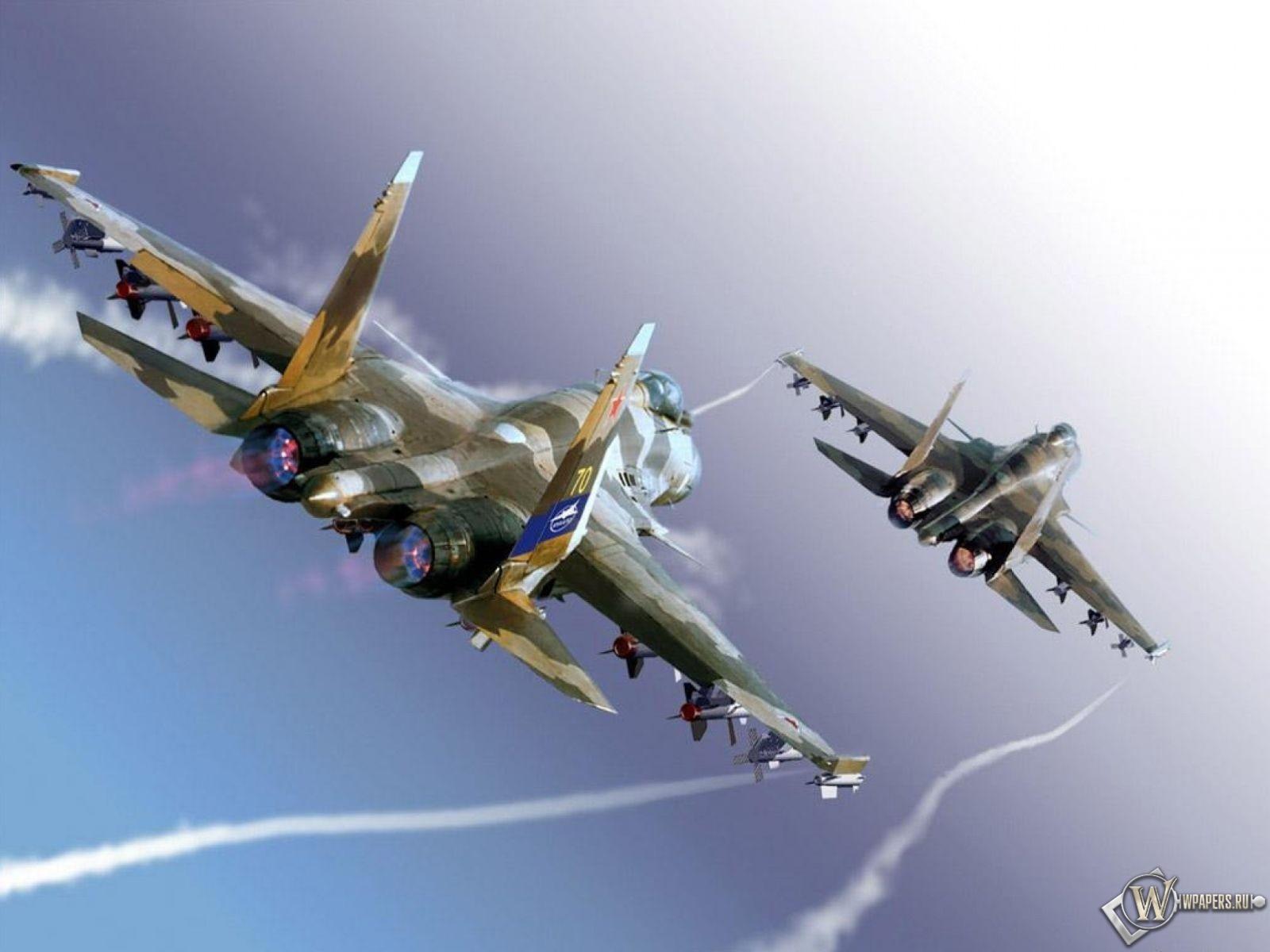 Истребители Су-35 1600x1200