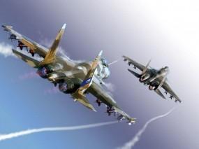 Обои Истребители Су-35: Истребители, Су-35, Истребители