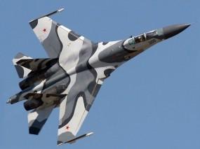 Обои Камуфляжный истребитель Су-27М: Истребитель, Су-27, Истребители