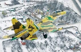 Обои Су-35 - Истребитель - Зима: Су-35, Истребители