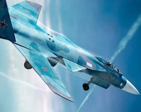 Обои Су-47 (С-37) Беркут: Истребитель, Су-47, Истребители