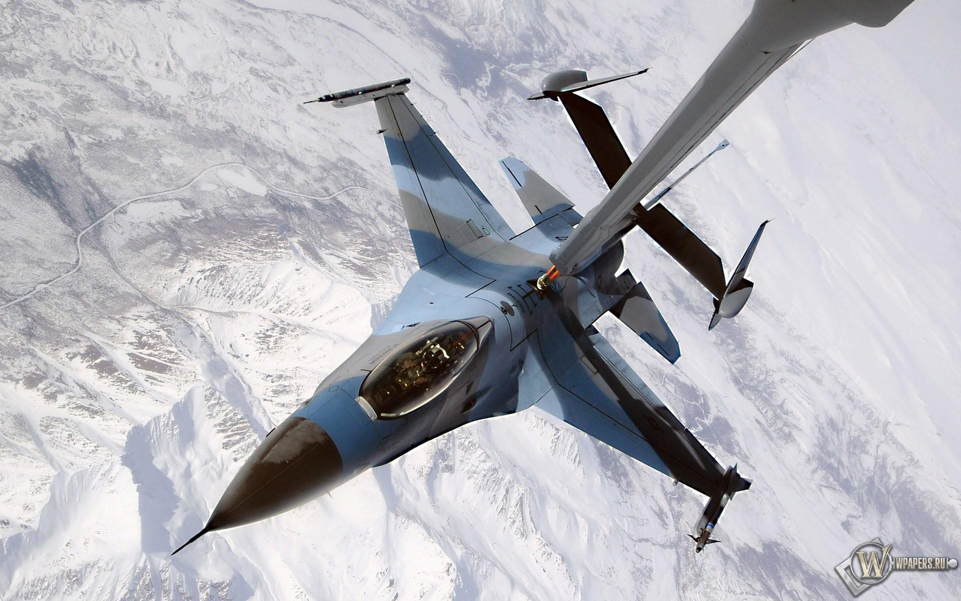 F-16 дозаправка 1920x1200