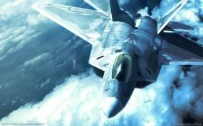 Обои F-22 raptor: Истребитель, Небо, Ace Combat X, F-22, Raptor, Истребители