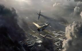 Обои Авиаудар: Авиаудар, Самолёт с пропеллером, Самолёты, Истребители