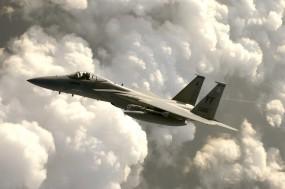 Обои F-15 eagle: Истребитель, Небо, F-15, Истребители