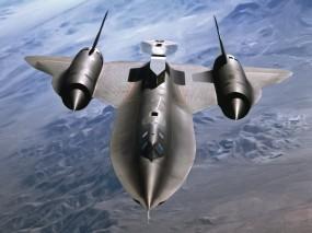 Обои SR-71 Blackbird: Полёт, Истребитель, Военные самолеты, Небо, Самолёт, SR-71, Воздух, Истребители