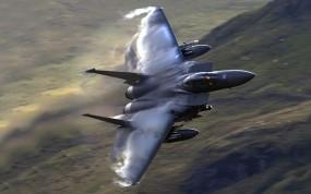 Обои F-15 Eagle: Полёт, Истребитель, Военные самолеты, Небо, F-15, Воздух, Истребители