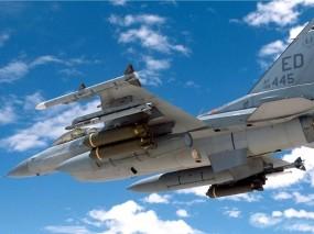 Обои F16 Falcon: Полёт, Истребитель, Военные самолеты, Небо, F-16, Воздух, Истребители