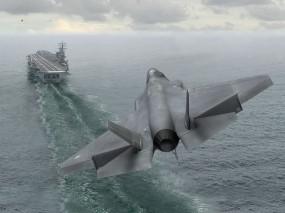 Обои F-35C Lightning II: Истребитель, Авианосец, F-35, Истребители