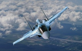 Обои Su-34 Flanker-E: Полёт, Истребитель, Небо, Су-34, Воздух, Истребители