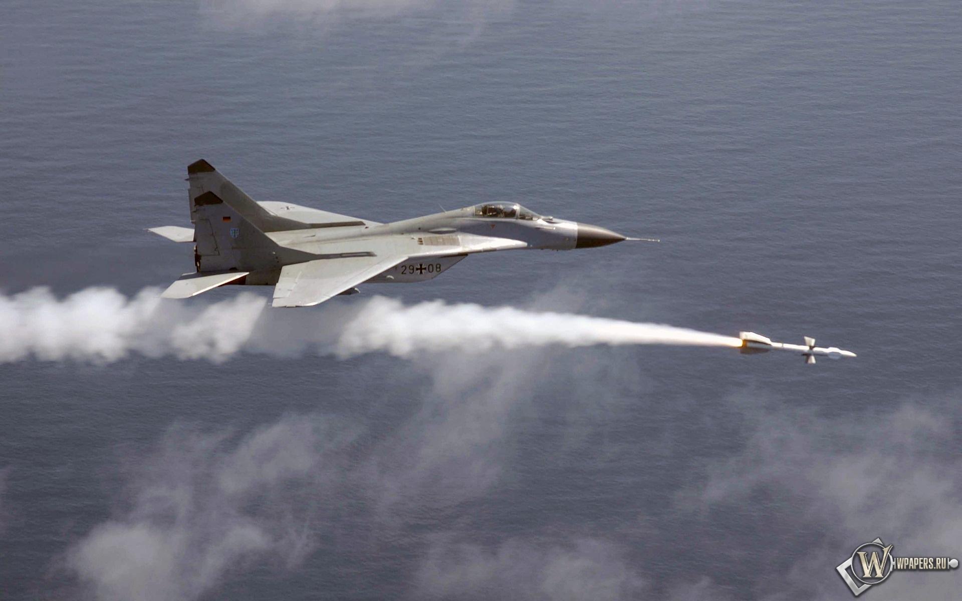МИГ-29 Пуск ракеты 1920x1200