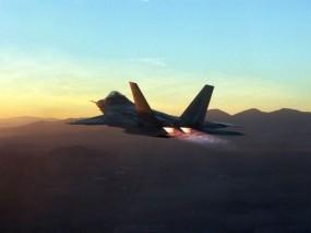 Обои Истребитель F-22 Раптор: Истребитель, Турбины, F-22, Raptor, Истребители