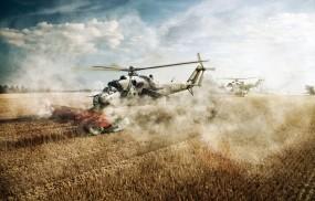 Обои Ми-24 - комбаин: Комбайн, Ми-24, Вертолёты