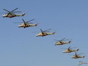 Обои Вертолетное Авиашоу Ми-24: Ми-24, Авиашоу, Вертолеты, Вертолёты