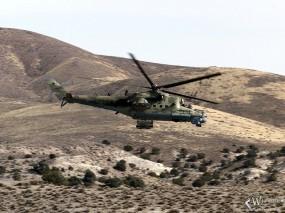 Обои Ми-24ПТ: Вертолет, Война, Полёт, Ми-24, Вертолёты