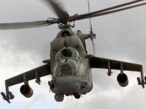 Обои Вертолет МИ-24ПТ: Вертушка, Пропеллер, Вертик, Ми-24, Вертолёты