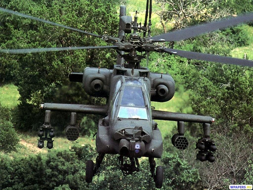 Вертолет АН-64 1024x768