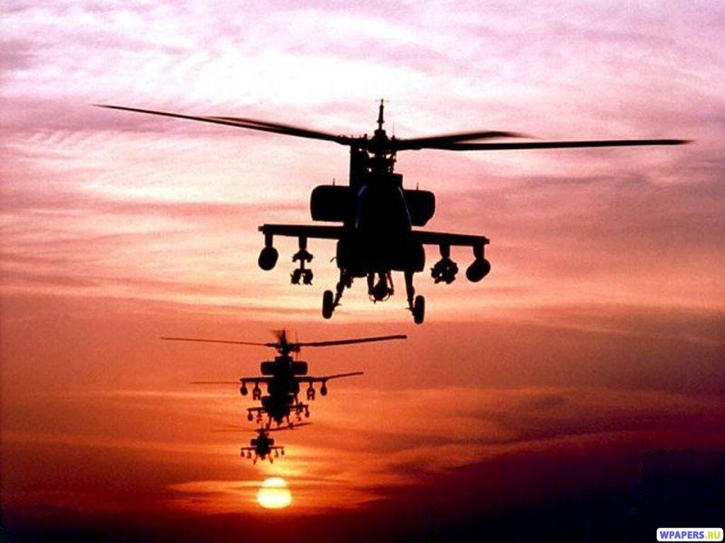 Вертолеты АН-64 Apache 1024x768