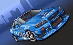 Обои Nissan SKYLINE GTR: Nissan Skyline, 3D Авто