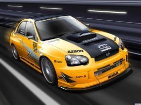 Обои 3D Субару: Subaru, 3D Авто