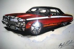 Обои 3D Chevrolet Impala: Chevrolet Impala, 3D Авто