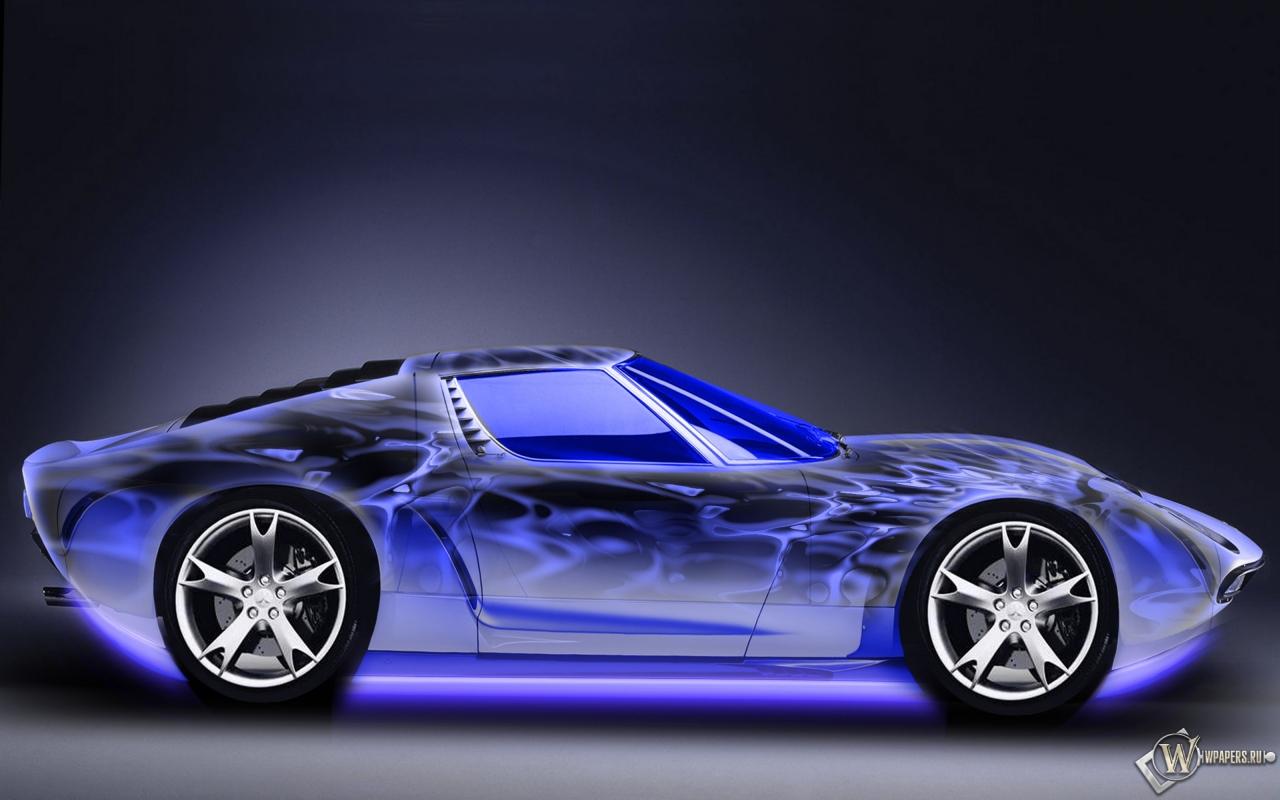 Неоновый авто 1280x800