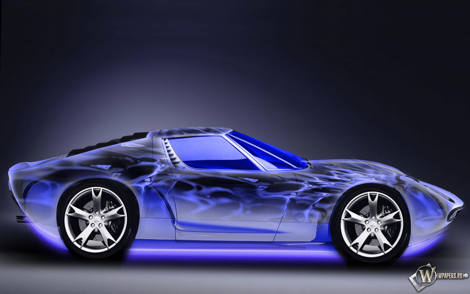 Неоновый авто 1920x1200