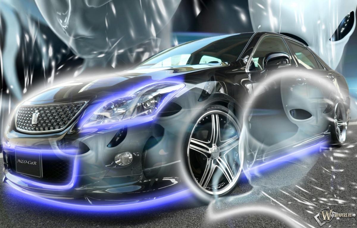 Неоновый авто 1200x768