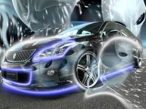 Обои Неоновый Авто: Неон, НЛО, Тачка, 3D Авто