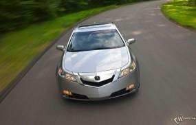 Обои Acura TL на трассе: Acura TL, Acura
