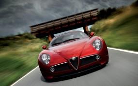 Обои Alfa Romeo 8C: Alfa Romeo 8C, Alfa Romeo