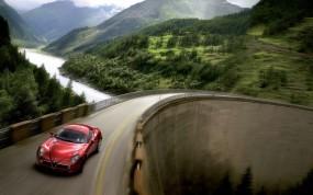 Обои Alfa Romeo: Шоссе, Alfa Romeo, Sport Car, Alfa Romeo