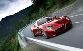 Обои Alfa Romeo: Alfa Romeo, Трасса, Sport Car, Alfa Romeo 8C, Alfa Romeo