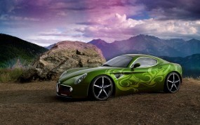Обои Alfa Romeo: Зелень, Alfa Romeo, Аэрография, Alfa Romeo