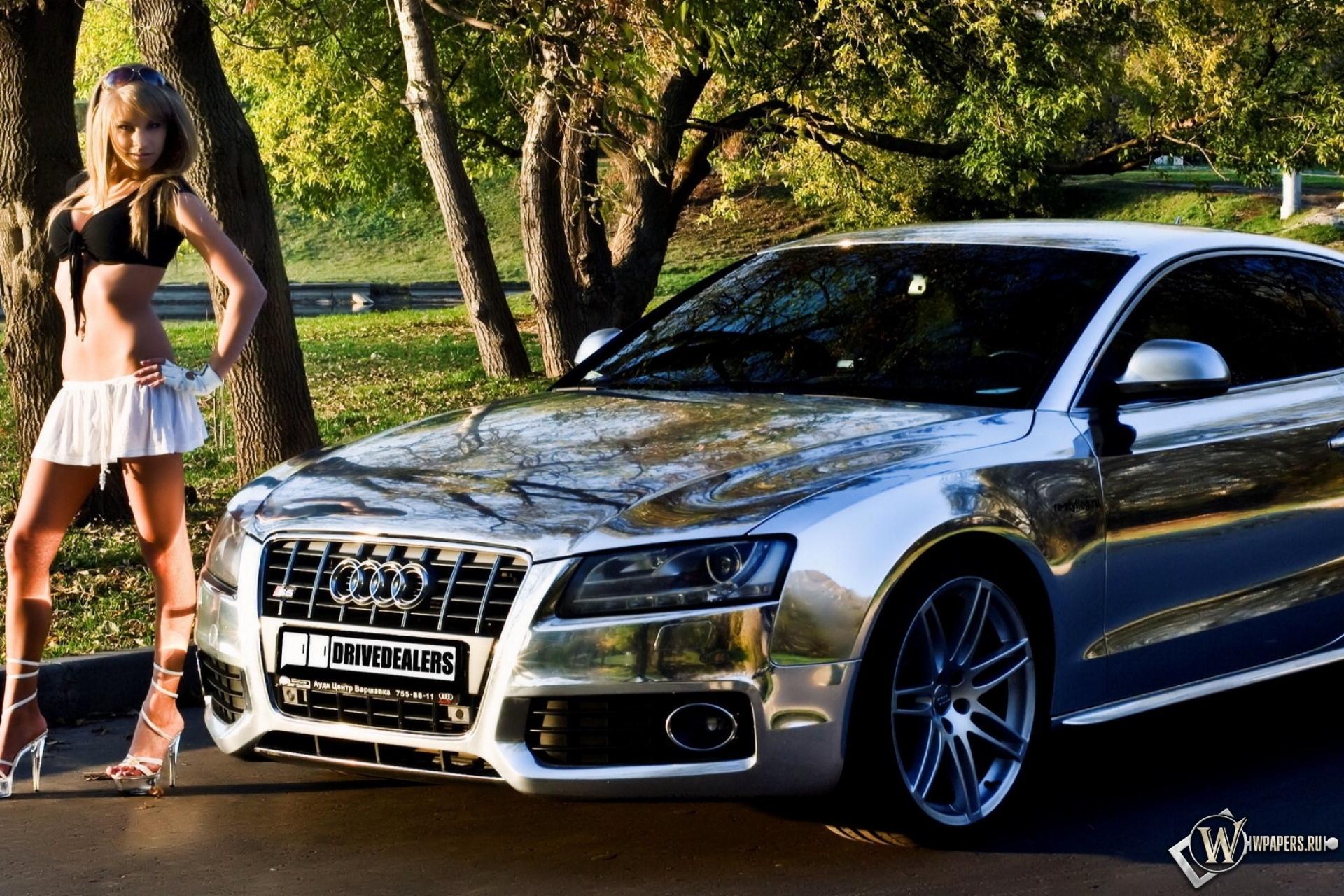 Audi S5 здание освещение  № 2217084 бесплатно