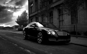 Обои Bentley Continental GTS Black Edition: Bentley Continental GT, Bentley