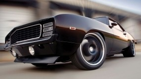 Обои Chevrolet Camaro SS: Скорость, Чёрный, Chevrolet Camaro, Chevrolet