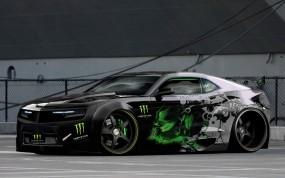Обои Chevrolet Camaro Monster Energy: Chevrolet Camaro, Тюнинг, Muscle Car, Chevrolet