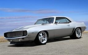 Обои 1969 Chevrolet Camaro: Асфальт, Небо, Chevrolet Camaro, Тюнинг, Muscle Car, Chevrolet